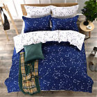 Constellation Single Double King Size Bed Set Pillowcases Quilt Duvet Cover