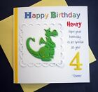 Personalised child's birthday card Dragon /  Age 1, 2.3, 4, 5, 6, 7 ,8, 9