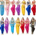Belly Dance Costume Pepper Top Bra With Gold Harem Pants Fancy DressUp Party Set