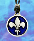 Fleur de Lis Pendant in Fine Pewter Your Choice of Color by Treasure Cast