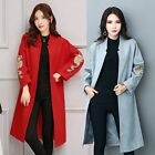 Fashion Womens Casual Embroidery Slim Fit Overcoat Parka Outwear Coat Jacket New