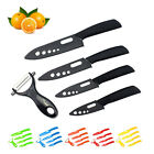 "Blade Set Ceramic Chef Kitchen Knives 3"" 4"" 5"" 6"" + Peeler Knife Cutlery KIT"