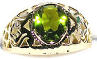 Men's Unique Peridot Gold Filled Ring ** August Birthstone ** 31512