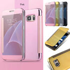 Luxury Mirror Smart Clear Wallet Flip Case Cover For Samsung Galaxy S7 Edge New