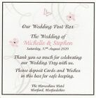 1 Handmade Personalised Wedding Post Box Sign - Many Colours *LE*