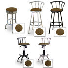 "FC129 2 NEW 29"" TALL CHROME TEXAS RANGER SHERIFF OLD WEST THEME SWIVEL BARSTOOLS"