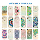 Painted Mandala Pattern Silicone Soft Cover Phone Case For iPhone5 6 7 Plus