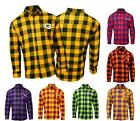 NFL Mens Football Large Check Flannel Shirt - Pick Team