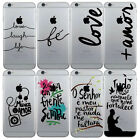 Various Pattern Cute Transparent Hard Back Case Cover For iPhone 6 6s 7 7 Plus
