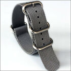 5-Ring Grey Watch Strap, Military-Style Nylon Band with Matte Finish Buckle image