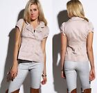 New Bubble Top Jacket Button Puffy Short Sleeve Beige Nude Work Casual Trendy