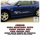 GE-N840 2004 FORD MUSTANG - 40th ANNIVERSARY with PONY SIDE - DECAL SET