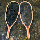 SF Wooden Narrow frame Fly Fishing Trout Landing Rubber Net  Catch and Release