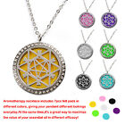 Hollow out Essential Oil/Perfume Diffuser Necklace With Round Link Chain & 7Pads