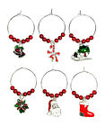 Seasons Greetings Wine Glass Charms - 3 Different Gift Options ~ FREE P&P
