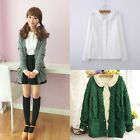 Girl Lolita French Toast Blouse 3Layers Peter Pan Collar White Long Sleeve Shirt