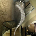 LED modern spiral stair Living Room chandelier crystal restaurant ceiling light