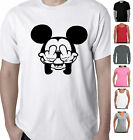 Mickey Mouse rude middle finger Funny T-Shirts Singlets retro Size charts colour