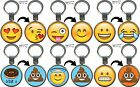 Emoji Emoti Key Rings Lenticular Keyring Keychain Birthday Stocking Filler Gift