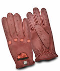 MEN'S REAL LEATHER FULL FINGER DRIVING GLOVES CHAUFFEUR CLASSIC VINTAGE FASHION