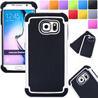 Hybrid Shockproof Hard Rugged Armor Case Cover For Samsung Galaxy S4 S6 S7 Edge