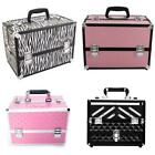 14'' Pro Aluminum Makeup Train Case Jewelry Box Travel Cosmetic Organizer Case