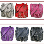 Retro PU Leather Skull Embossed Studded Goth Backpack Shoulder Bag Handbag Tote