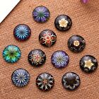 DIY mixed round dome embroidery flower photo glass cabochon 20mm 20pcs