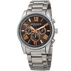 Men's Akribos XXIV AK912 Swiss Quartz Day Date Stainless Steel Bracelet Watch фото