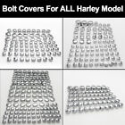 FIT ALL HARLEY DAVIDSON MODEL TOPPERS ABS CHROME BOLT NUT DRESS COVERS CAPS KIT $10.41 USD on eBay