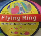 "Outdoor Summer Games Toy 20"" Flying Ring Frisbee Disc Dogs Toy Kids Garden Disc"