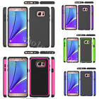 Heavy Duty Hybrid 2 in 1 TPU+Polycarbonate Solid Back Case Cover For Cell Phones