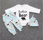 Christmas Holiday Gift Infant Baby Boy Outfits Clothes 3PC Set Hat Shirt Pants