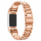 Fitbit Best Deals - 3 Pointers Luxury Stainless Steel Watch Band Wrist Strap For Fitbit Charge 2 NEW