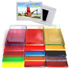 "97x66MM 3,8x2,6"" CLEAR /COLOR /GLITTERS ACRYLIC BLANK FRIDGE MAGNETS PHOTO FRAME"