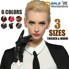 3 Sizes Women Winter Warm Leather 100% Cashmere lined Gloves 6 Colors
