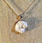 LGL- Mabe Pearl Sterling Silver Pendant - Genuine Pearl Shell Mother of Pearl