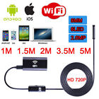 HD 8mm Lens Wifi Endoscope Iphone Camera Android Pipe Inspection Borescope 2M 5M