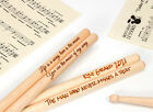 Personalised drum sticks 5A, high quality maple wood | custom bespoke engraved