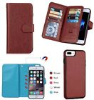 For iPhone 7/7 Plus Leather Wallet Case Magnetic Separable With Card Slot Cover