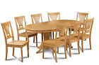 """42"""" X 78"""" Oval Dinette Dining Room Table Set Wooden Seat In Oak Finish"""