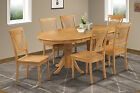"42"" x 78"" OVAL DINETTE DINING ROOM TABLE SET WOODEN SEAT IN OAK FINISH"