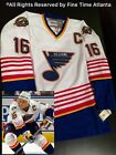Brett Hull St Louis Blues Vintage White Road Fight Strap Jersey Mens New w Tags