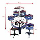 FoxHunter Children's Drum Set Kit – Musical Instrument Toy for Kids – Red / Blue <br/> *BAG A BARGAIN FOR CHRISTMAS*FUN*UK STOCK*FAST DELIVERY