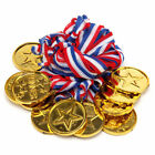 1 6 12 20 50 100 500 Gold Plastic Winner Medals Sports Day Party Bag Prize Award