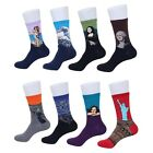 oil socks - Funny Mens Women's Fashion Retro Art Oil Painting Socks Casual Winter Warm Socks