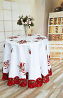 """Christmas Tablecloth 60""""X104""""Oblong RectangleTablecloth,Holiday Home Decor White"""