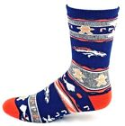 Denver Broncos NFL Football Ugly Christmas Sweater Gingerbread Crew Socks $10.95 USD on eBay