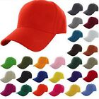 Plain Fitted Baseball Cap Visor Solid Blank Color Caps Hat Adjustable Velcro