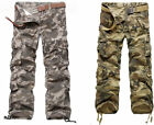 NEW Mens Military Army Fishing Work Camo Camouflage Cargo Combat Pants Trousers